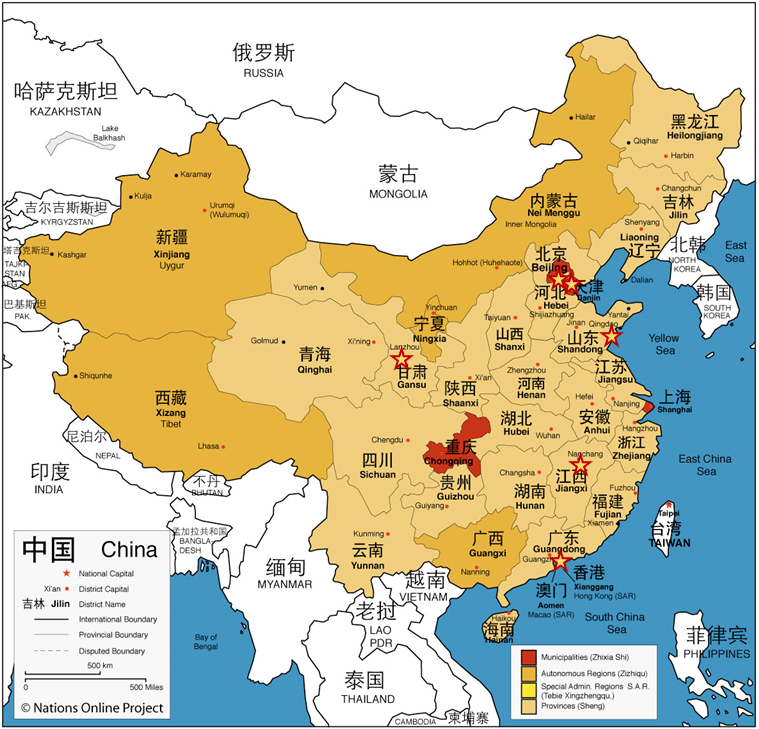 China Project sites